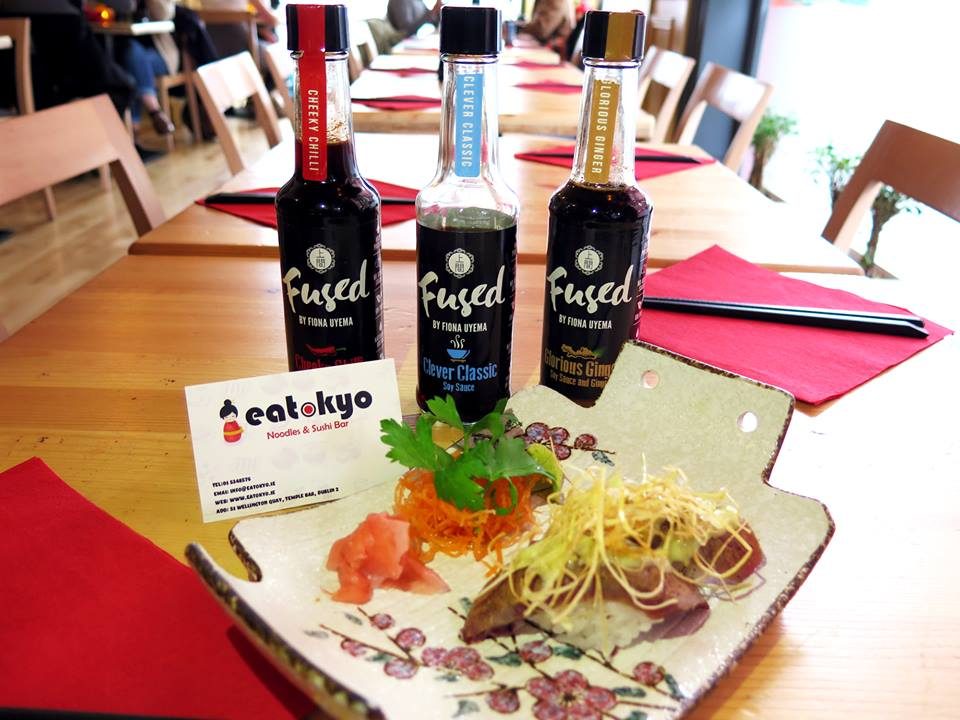 Eatokyo Dublin Sushi Bar Fused by Fiona Uyema soy sauce tabletop condiment