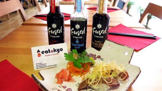 Eatokyo Dublin Sushi Bar Fused by Fiona Uyema soy sauce tabletop condiment