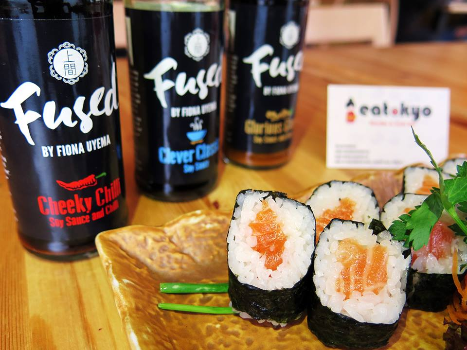 Eatokyo Dublin Sushi Bar Fused by Fiona Uyema soy sauce tabletop