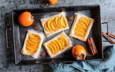 Persimmon Fruit Tart (Kaki Tart)