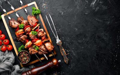 Lamb Skewers in a Satay Sauce