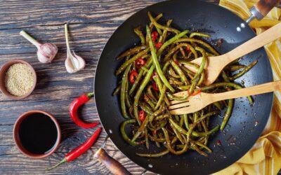 Szechuan Garlic & Chilled Green Beans