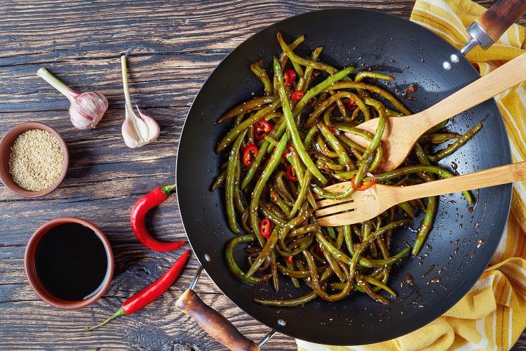 Szechuan Green Beans fused by fiona uyema