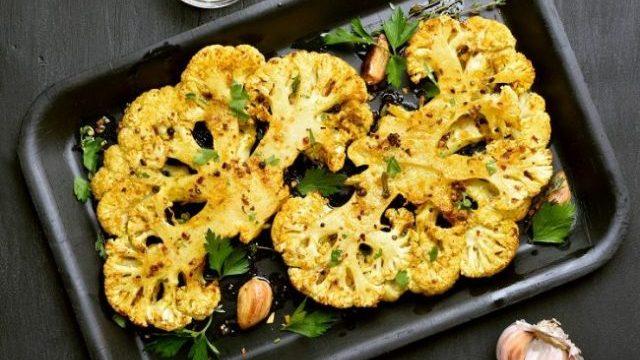 Curried Cauliflower Steaks