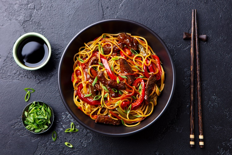 Beef Noodle Stir Fry fused by fiona uyema