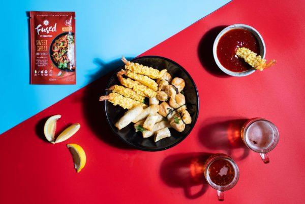 Fused by Fiona Uyema Prawn Tempura Recipe with sweet chilli