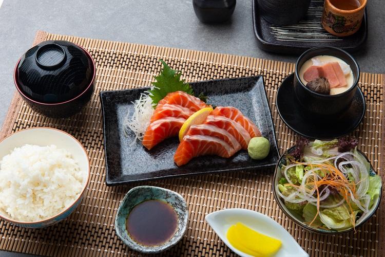 Salmon Sashimi Fused by Fiona Uyema