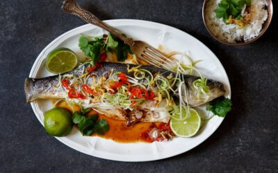 Steamed Seabass with Glorious Ginger & Spring Onion