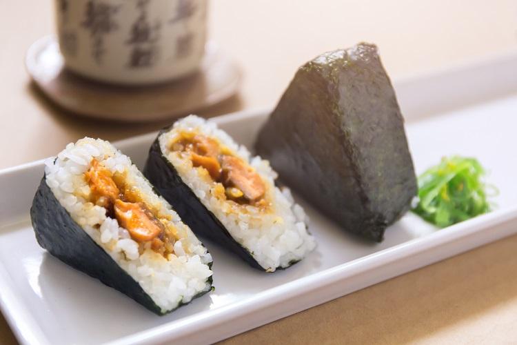 Teriyaki Salmon Onigiri fused by fiona uyema