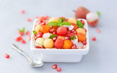Melon & Pomegranate Fruit Salad