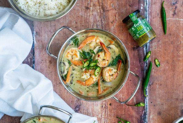 Thai Prawn green Curry Fused by Fiona Uyema recipe