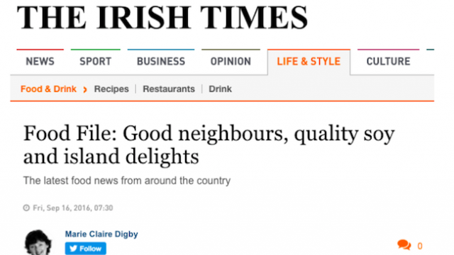 The Irish Times Introduces Fused By Fiona Flavoured Soy Sauces