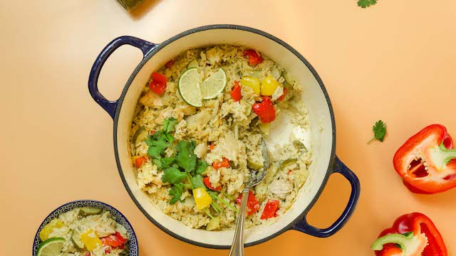 One-Pan Oven Baked Thai Chicken Rice