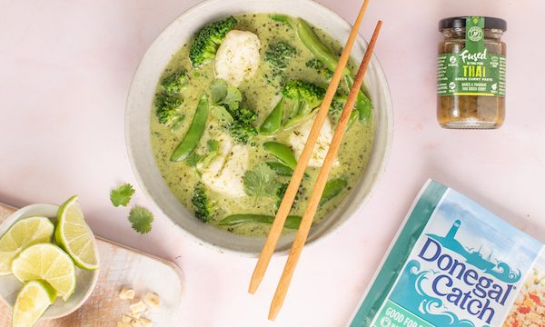 Thai green curry with Donegal Catch natural Haddock Fillets and Fused by Fiona Thai Curry Paste 2